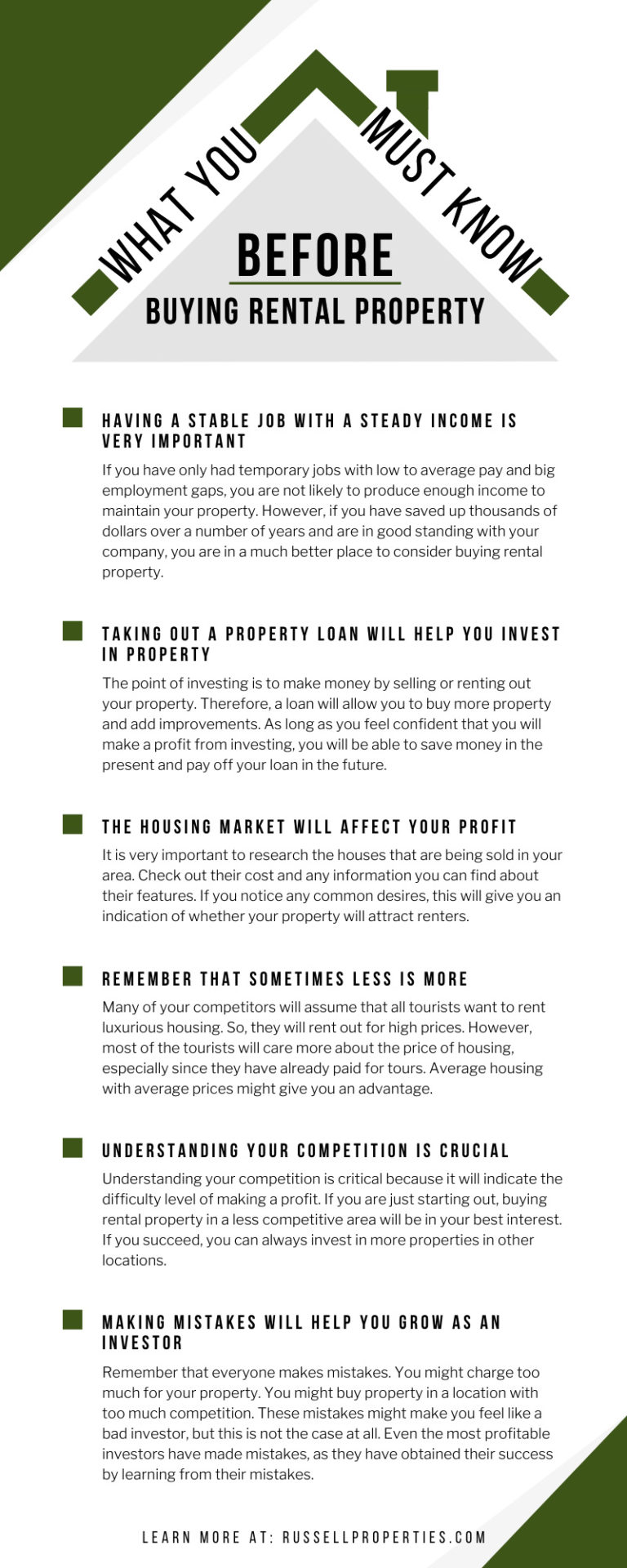 Buying Rental Property Infographic